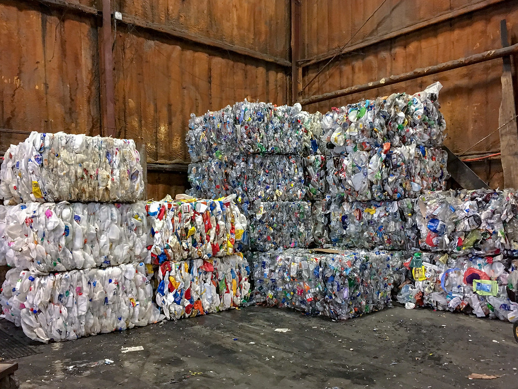 bales of recyclables at our material recovery facility