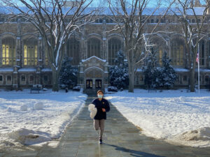 Brian plogging around campus.